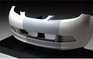 バンパー風洞実験モデル